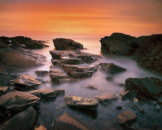 Kings Rocks Sunset by Stephen Gregory