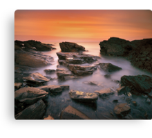 Kings Rocks Sunset Canvas Print