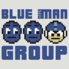 Blue Mega-Man Group by Baardei