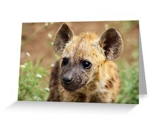 Spotted Hyaena #2 Greeting Card