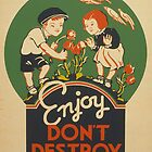 Retro Vintage Enjoy. Don&#x27;t destroy. (Prints, Cards &amp; Posters)  ) by PopCultFanatics
