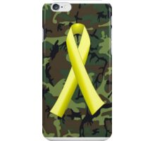 U.S. Military Green Camo, Yellow Ribbon iPhone Case/Skin