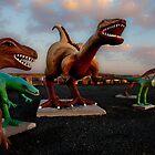 Jim Grey's Petrified Wood Company Dinosaurs by gwarn