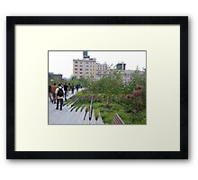 High Line View, New York's Elevated Garden and Walking Path Framed Print