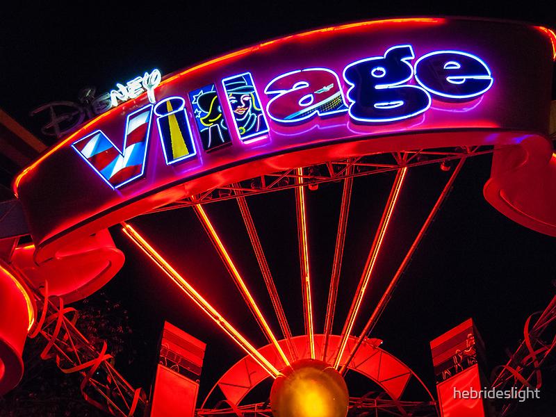 Disney Village Lights by hebrideslight