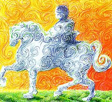 he rides a white horse by Matthew Scotland