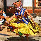 Masked Monk #6 Tashiling Festival, Eastern Himalaya, Central Bhutan by Carole-Anne
