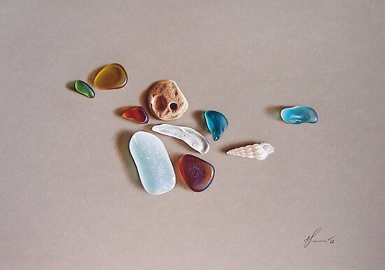 """""""Pieces from the ocean"""" by Elena Kolotusha"""