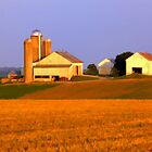 Early Morning Pa Farm Panoramic by KellyHeaton