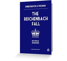 BBC Sherlock - The Reichenbach Fall Minimalist Greeting Card
