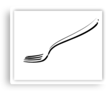 Eating utensil Canvas Print