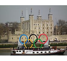 Olympic rings at the Tower of London Photographic Print