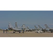 F 18 Jets on the Ramp Photographic Print