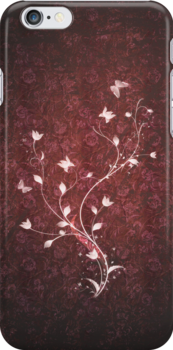 Floral vintage [red] by Dominika Aniola