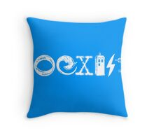 COEXIST - Let the Worlds of Nerdom Unite! Throw Pillow