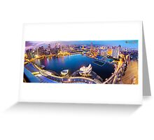Marina Bay Sands View of Singapore Greeting Card