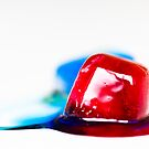 Red and blue melting together by Juhana Tuomi