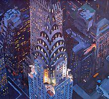 New York City Midtown Manhattan Chrysler Building by artshop77