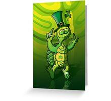Saint Patrick's Day Turtle Greeting Card