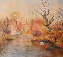 The canal West Hythe in Winter by Beatrice Cloake