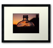 Message in a Bottle Framed Print