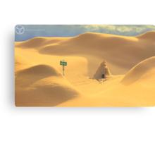 Desert hut Canvas Print