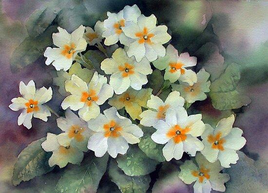 Spring Primroses by Ann Mortimer