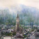 Matin du village  by vasenoir