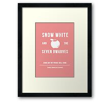 Disney Princesses: Snow White Minimalist Framed Print
