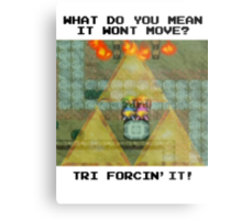 Zelda Tri Forcin' It  Metal Print