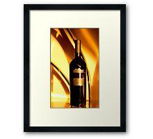 The golden wine bottle Framed Print