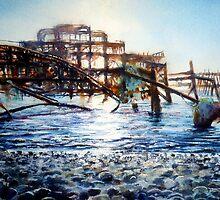The West Pier , A derelict piece of victorian Architecture by LorusMaver