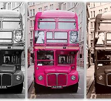 London Routemaster Triptych by ©The Creative  Minds