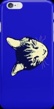 Weird Cat Head iPhone 2 by Margaret Bryant