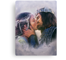 Arwen and Aragorn Canvas Print