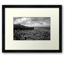 Cemetery with a View Framed Print