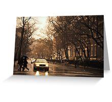 Rain - Greenwich Village - New York City Greeting Card
