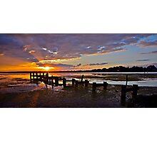 Ruined Jetty Sunrise. Photographic Print