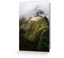 Misty Ko'olau Mountains Greeting Card