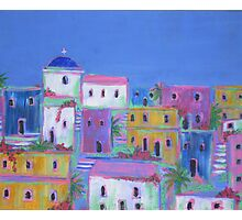 Mediterranean Village Photographic Print