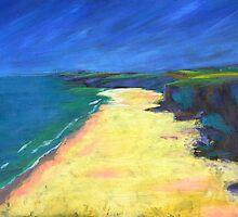 Beach Painting by Emily King