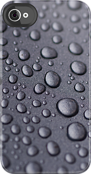 Picture of water droplets on iphone case