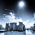 Bodium Castle and Spring Sun.  by Paul Richards