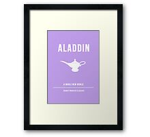 Disney Princesses: Aladdin Minimalist Framed Print