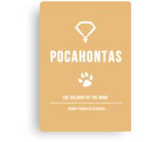 Disney Princesses: Pocahontas Minimalist Canvas Print