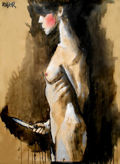 the knife (after Jan Saudek) by Loui  Jover