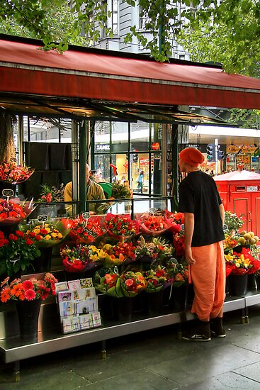 Buying Some Flowers by Christine Smith