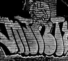 'Marty' New York Rooftop Graffiti. by abbyrojas