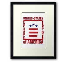 Postage Paid USA Framed Print