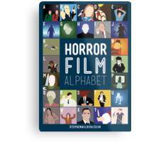 Horror Film Alphabet Metal Print